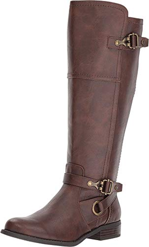 G by GUESS Harvest Wide Calf Boot For Women Brown 6