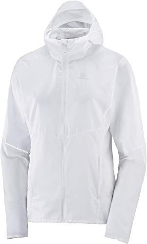 Salomon Women's Standard Wind Jacket, White, S