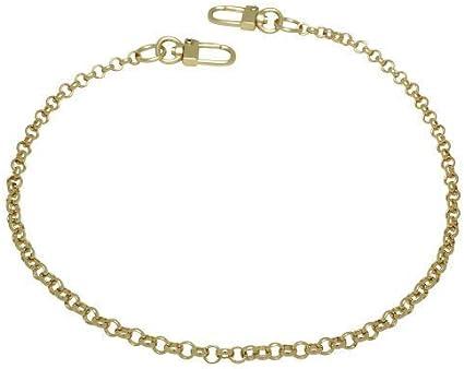 Bag Chain Shoulder Purse Strap Chain Ends with Lobster Clasp Handle Chain Super light Gunmetal 126cm