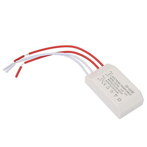 Transformador Electrónico AC 220 V a 12 V, Transformador 20 – 60 W, Fuente de Alimentación Inteligente Driver para Lámpara de Bajo Voltaje