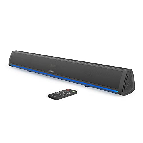 Audible Fidelity Sound Bar with Remote Control and LED Lighting, Home Audio Sound Bars for TV, Small Soundbar for TV, Soundbars for TV, Sound System for TV, Bluetooth Soundbar for TV, TV Speakers