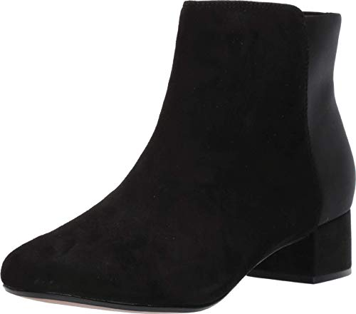 CLARKS Women's Chartli Valley Ankle Boot, Black Combi Suede, 85 M US
