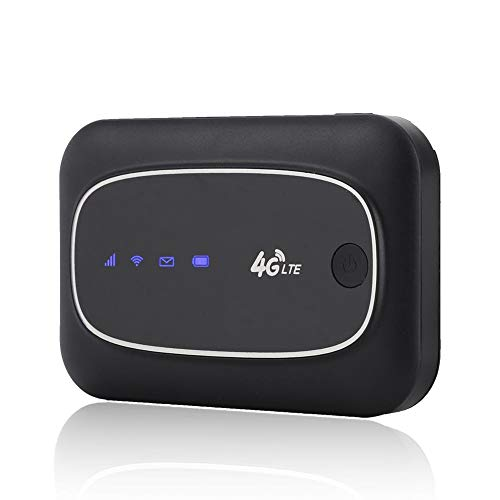 Bewinner 4G LTE Mobile WiFi Modem Mini Wireless Mobile Router Portable Pocket WiFi Router Hotspot for Indoor/Outdoor, Travel Partner Modem WiFi Gaming Router(Black)