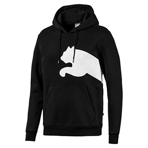 PUMA Big Logo Hoody FL Felpa con Cappuccio Uomo Nera 58056501 Nero M