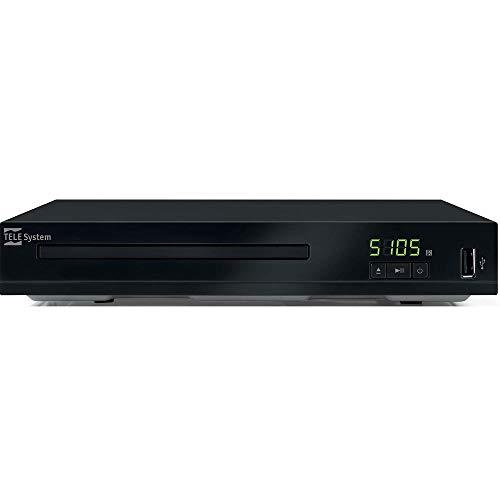 Telesystem TS5105 DVD Player e lettore multimediale via USB, Nero