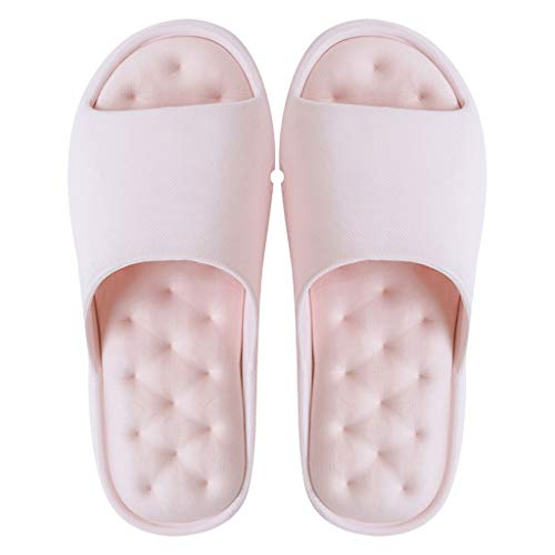 YHshop Pantuflas Playa Verano Baño Sandalias Zapatillas Hombres y Mujeres Parejas Parte Inferior Suave Sandalias Antideslizantes Inicio Zapatillas Interiores y Exteriores Fondo Grueso Sandalias