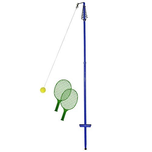 Best Sporting Twistball-Set inkl. 2 Twistball-Schläger - Swingball - Circletennis, blau