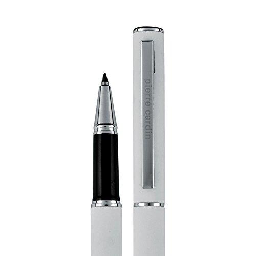 PIERRE CARDIN Tintenroller Rollerball Gel-stift in der Schreibfarbe blau mit Touch-Pen Funktion. Der Pen wird in einer Geschenkverpackung mit Echtheitszertifikat geliefert. CLAUDIE (weiß)