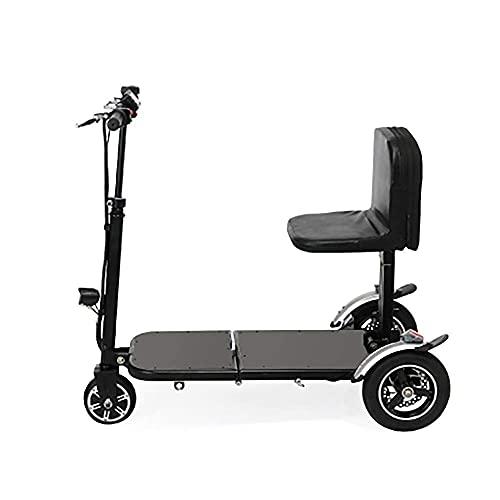WGFGXQ Silla de Ruedas Liviana Mini Triciclo eléctrico Plegable Compacto, Mini Triciclo eléctrico Scooter eléctrico Plegable Adultos Litio portátil para discapacitados Silla de Ruedas asistida por