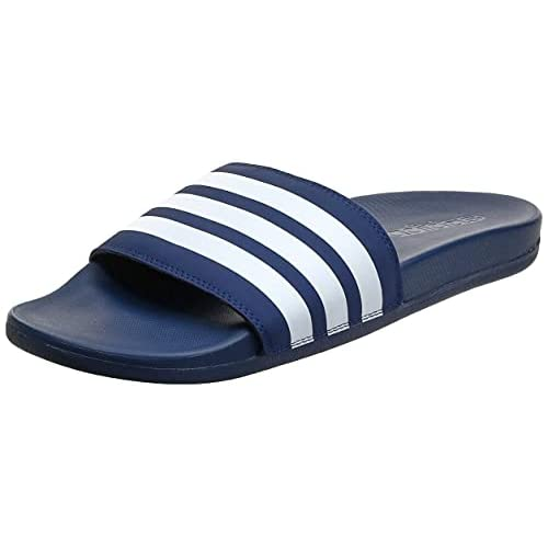 Adidas Adilette Comfort, Scarpe da Spiaggia e Piscina Uomo, Blu (Azuosc/Ftwbla/Azuosc 000), 43 EU