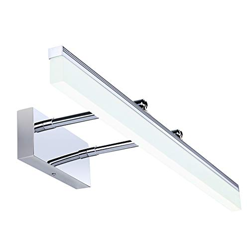Qucover 12W Spiegelleuchte LED Bad, Spiegellampe mit 180°Abstrahlwinkel, Wandleuchte für Badezimmer, Badlampe für Spiegel 60 cm, Einstellbare Schrankleuchte Schminklicht, Kaltweiß