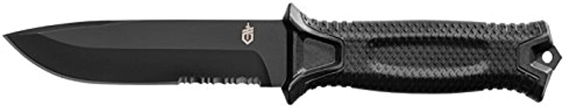 GERBER StrongArm Fixed Blade Knife with Serrated Edge - Black