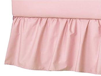 American Baby Company Ultra Soft Microfiber Ruffled Porta/Mini-Crib Skirt Blush Pink for Girls