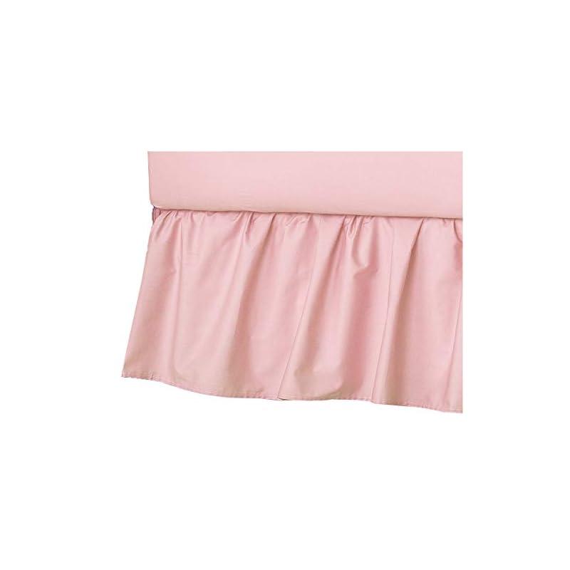 crib bedding and baby bedding american baby company ultra soft microfiber ruffled porta/mini-crib skirt, blush pink, for girls