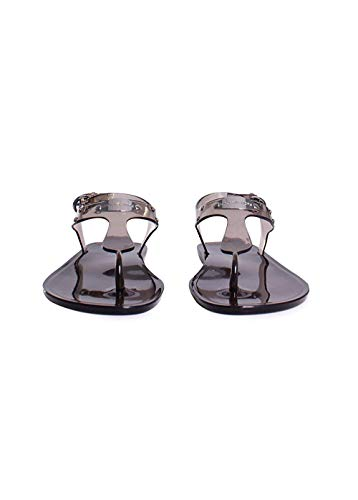 Michael Kors Plate PVC Jelly Sandals in Smoke Size 8