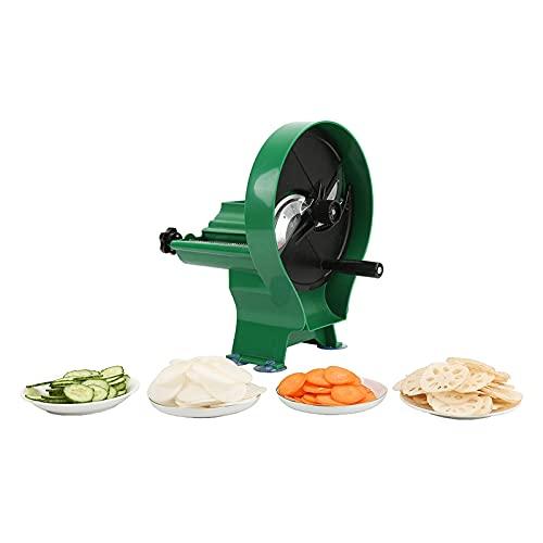 JSQWD Rebanadora multifunción Vegetal y Fruta rebanadora de Loto portátil/Patata/limón/limón/de Cutter de Carne de Manzana Cortador de Vegetales de Cocina Doble for el hogar y el Negocio