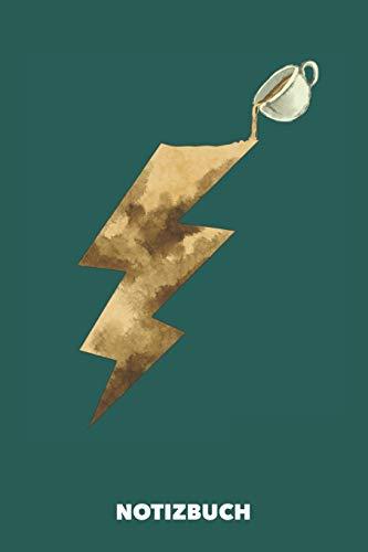 Notizbuch: Kaffee-Kraft DIN A5 liniert - 120 Seiten für kreative Kaffee-Freaks (Meeresgrün)