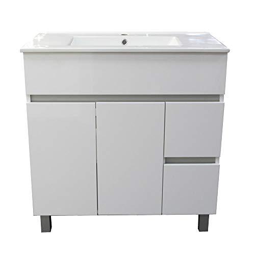 Conjunto de Muebles de baño con Patas 80 cm. Blanco Brillo.