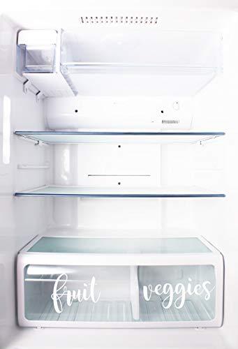 Just454on - Etiquetas de vinilo para frigorífico, diseño de organización de frigorífico, etiquetas de vinilo para contenedores de cocina