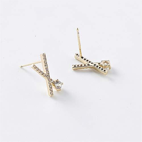 Oorbel bengelen geometrische Crystal vrouwen Stud Oorbellen Cross Over kleine oorbellen meisje sieraden Womens accessoires