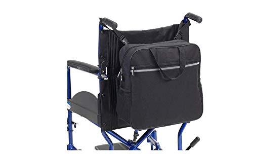 Rolstoeltas of opbergtas aan de achterkant voor reis-accessoires-fits voor de meeste wandelaars, ringen of rolstoelensenioren 37 * 37 * 14cm