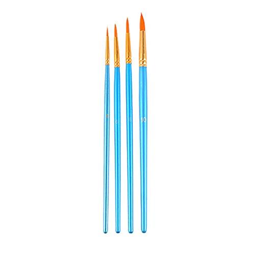 Dounan Pinceles,Juego de 4 pinceles de pintura para artistas, pinceles de nailon con mango de madera