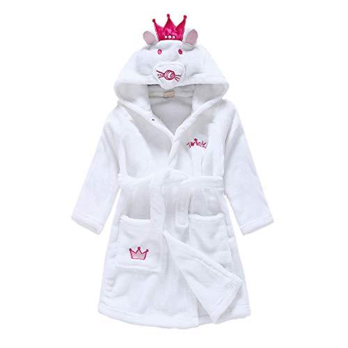 Cartoon Animal Cute Flannel Soft Hooded Bathrobes Baby Robe Sleepwear Unisex Boy Girl Towel Pajamas