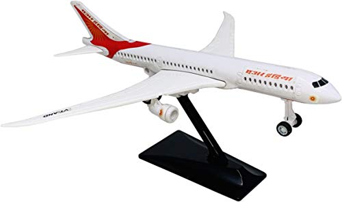 Toyify Pull Back Small Size Plastic Made Aeroplane Scale Model Air Craft Toys for Kids | Made in India Toys | Safe Quality Toys | Basic Quality Plastic Toys (Dream Liner With Stand + Pull Back Action)