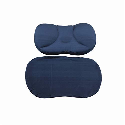 DZSW Almohada Dormir de Lado Cubierta Protectora 3D Creativa Sueño Profundo Cuello Almohada Lavable de Nylon Almohada Almohada de Viaje Cuello Cómoda Almohada de Golpe (Color : Navy Pillow andcover)