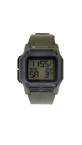 NIXON Regulus A1180 - Surplus/Carbon - 100m Water Resistant Men's Digital Sport Watch (46mm Watch Face, 29mm-24mm Pu/Rubber/Silicone Band)