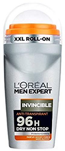 L'Oréal Men Expert Invincible 96H, desodorante sin alcohol para hombres, 50 ml