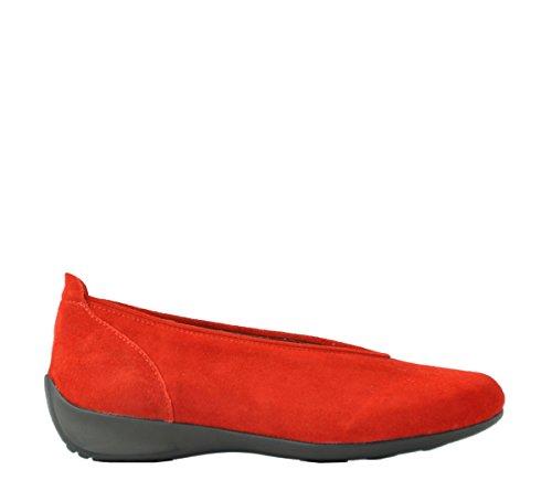 Wolky Comfort Ballett Pumps Ballett, Rot - 40500 Wildleder rot - Größe: Medium