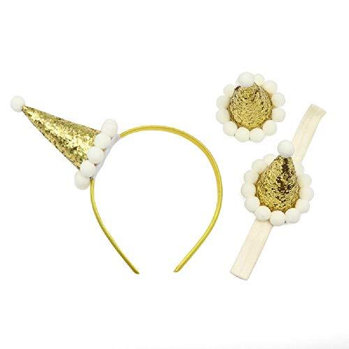 NOBRAND Tocado para niños diadema corona para bebé conjunto de horquilla adorno para el pelo adorno para el pelo