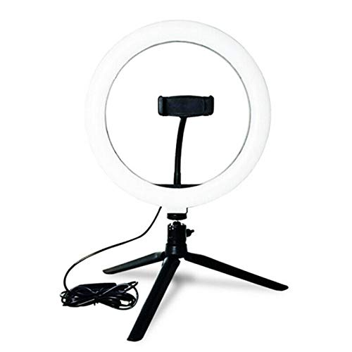Icegrape 10 Inch LED Ring Licht Lamp Selfie Camera Telefoon Studio Stand Video Dimbaar Verstelbare Hoek