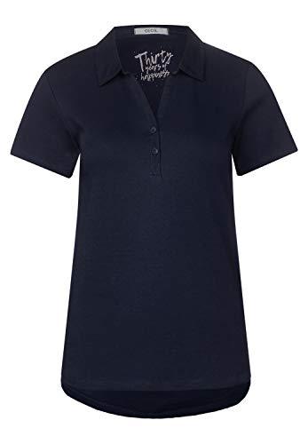 Cecil Damen Polo-Shirt in Unifarbe deep Blue S