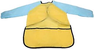 Bibs & Burp Cloths - Kids Waterproof Art Craft Apron Smock For Children DIY Painting Drawing Baking Eating Aprons Pockets ...