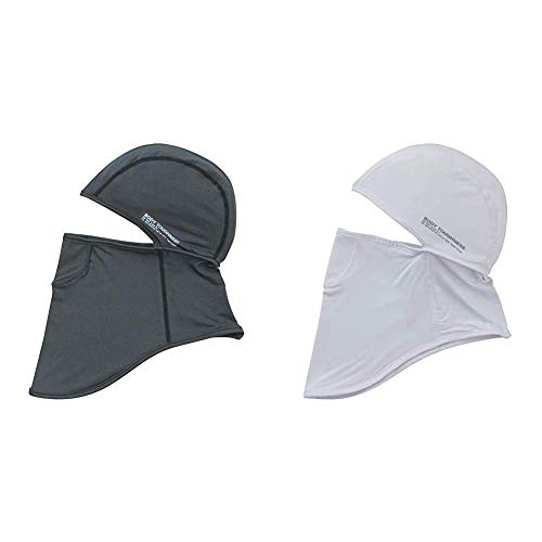 Otafuku Glove JW-614 Body Toughness, Cooling & Deodorizing, Power Stretch, Full Face Mask, Gray & Body Toughness, Cooling & Deodorizing, Power Stretch, Full Face Mask, White [Set Purchase]