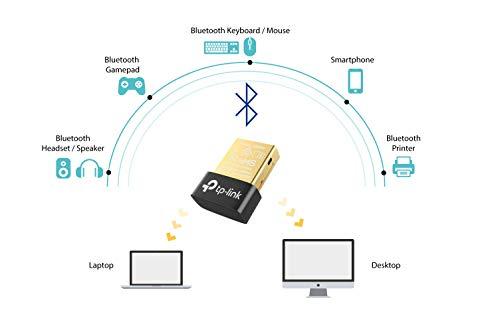 TP-Link UB400 Nano - Adaptador Bluetooth 4.0 USB Dongle para ordenador, portatil, auriculares, altavoz, teclado, compatible con Windows 10, 8, 8.1,7, XP, Vista
