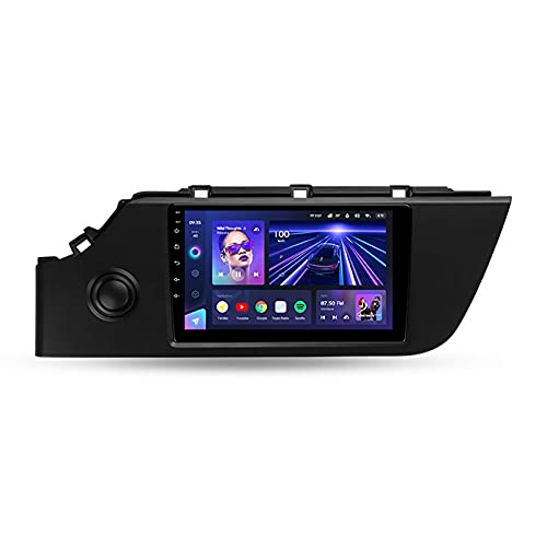 Para Kia Rio 4 IV FB 2020 2021,Android 10 9'' Autoradio Con Pantalla Táctil/Enlace Espejo/BT/GPS/Mandos De Volante/Cámara Trasera/4G LTE+5G WIFI/3D Dinámica De Conducción En Tiempo Real,Cc3,4+64G