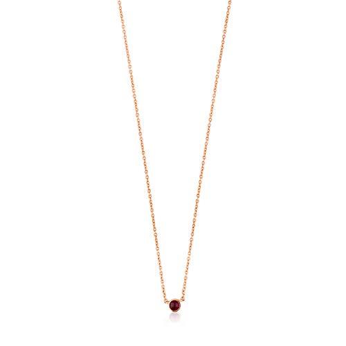 Halskette Super Power Silber Vermeil Rosa