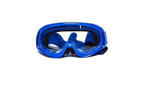 CRG Sports Motocross ATV Dirt Bike Off Road Racing Goggles T815-3- Parent (Transparent lens blue frame)