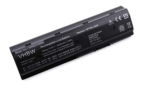 vhbw Batterie 6600mAh Notebook HP Pavilion Envy dv6 dv7 dv4 m6 remplace 671567-421 671567-831 671731-001 672326-421 H2L55AA HSTNN-LB3N HSTNN-LB3P MO06
