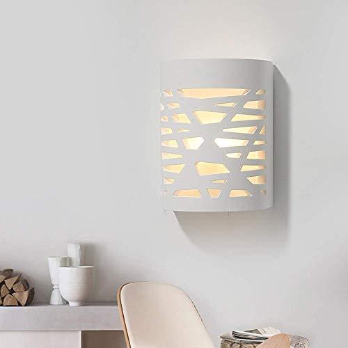 Eenvoudige installatie, led, modern, minimalistisch, hal, slaapkamer, woonkamer, cilindrisch, energiebesparing, wandlamp, gips wit, lampenkap 110 – 240 V (18 x 13 x 10 cm).