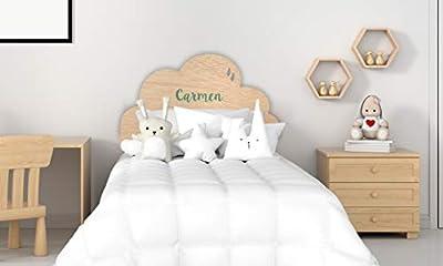 ✅ MATERIAL: Cabecero de cama fabricado en contrachapado de 10mm. ✅ PRODUCCIÓN: Cabecero de cama impreso digitalmente con gran calidad.El nombre de niño/a se imprimirá con la primera letra en mayúscula y el resto en minúscula. ✅ COLOCACIÓN: Fácil colo...