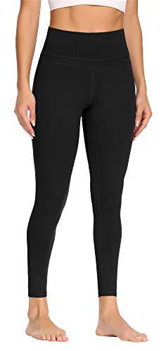 Beelu Damen Sports Yoga Leggings Hohe Taille blickdichte Knöchel Länge Slim Fit Fitnesshose Sporthosen Damen mit Nackte Empfindung