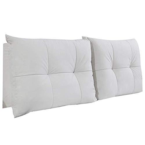 QIANCHENG-Cushion Kopfteil Rückenlehnen Bett Kissen Stereoskopische Rückenlehne Reißverschluss abnehmbar Schlafzimmer Flachs Soft Case, 5 Farben, 9 Größen (Color : #1, Size : 160cm)