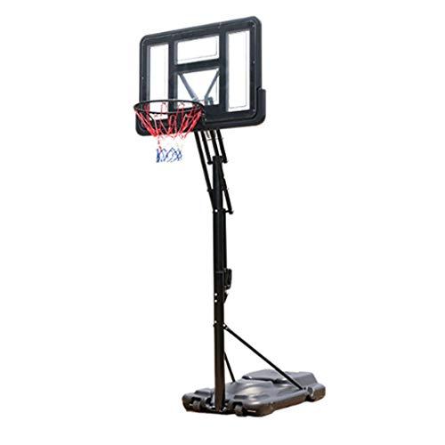 LZL Inicio Baloncesto al Aire Libre Hoop Get Sistema de Baloncesto Equipo de Baloncesto Altura Ajustable Tablero y Ruedas para niños Juveniles (Color : Black)