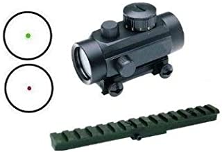 GOTICAL Mosin Nagant Rifle Fixed Stock Mosin Rail Mount + CQB Dual Red & Green Illuminated Dot Hunting Scope Sight