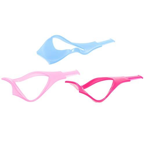 Minkissy 6 Pcs Mascara Bouclier Applicateur Brosse à Cils Bigoudi Garde Applicateur en Plastique Cils Outil Cosmétique Cils Outil (Rose Rouge/Rose/Bleu)
