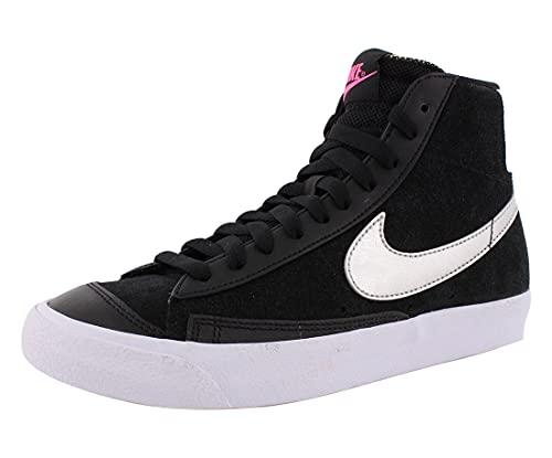 Nike Zapatos Mujer Blazer Mid 77 LX, negro (negro/metálico plateado/blanco), 38.5 EU